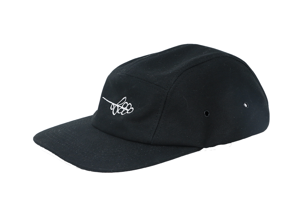 Equator Hat - Black Ball Cap with Coffee Cherries