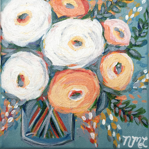 Fallin For You | Mini Canvas Painting | Tabletop Decor | Artist - Nicole May Lesher