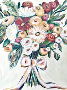 Autumn Bouquet | Fine Art Flower Painting | Nicole May Lesher