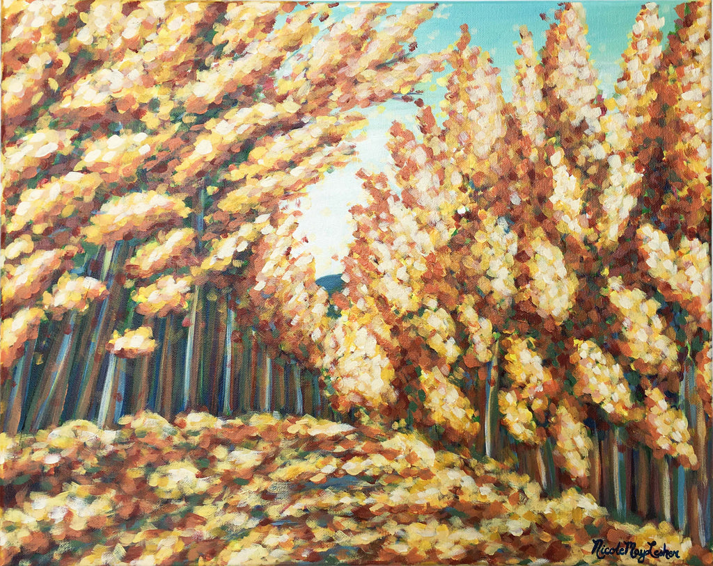 Autumn Leaves | Fine Art Landscape Painting | Fall Art | Nicole May Lesher
