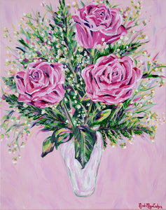 Be My Valentine | Fine Art Floral Painting | Nicole May Lesher