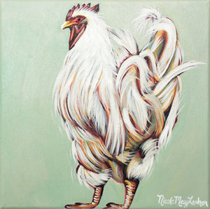 Barnyard Chicken | Fine Art Farmhouse Painting | Nicole May Lesher
