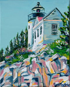 Cliffside Lighthouse | Nicole May Lesher | Fine Art Acrylic Painting