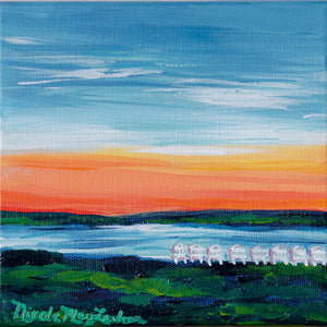 Day Dreaming | Coastal Maine Landscape Painting | Adirondacks | Seaside Sunset | Nicole May Lesher