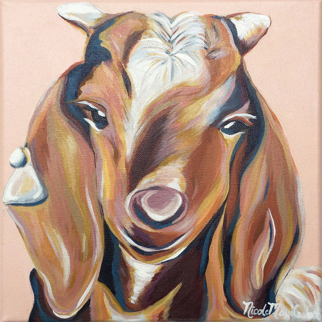 Barnyard Goat | Fine Art Farmhouse Painting | Nicole May Lesher