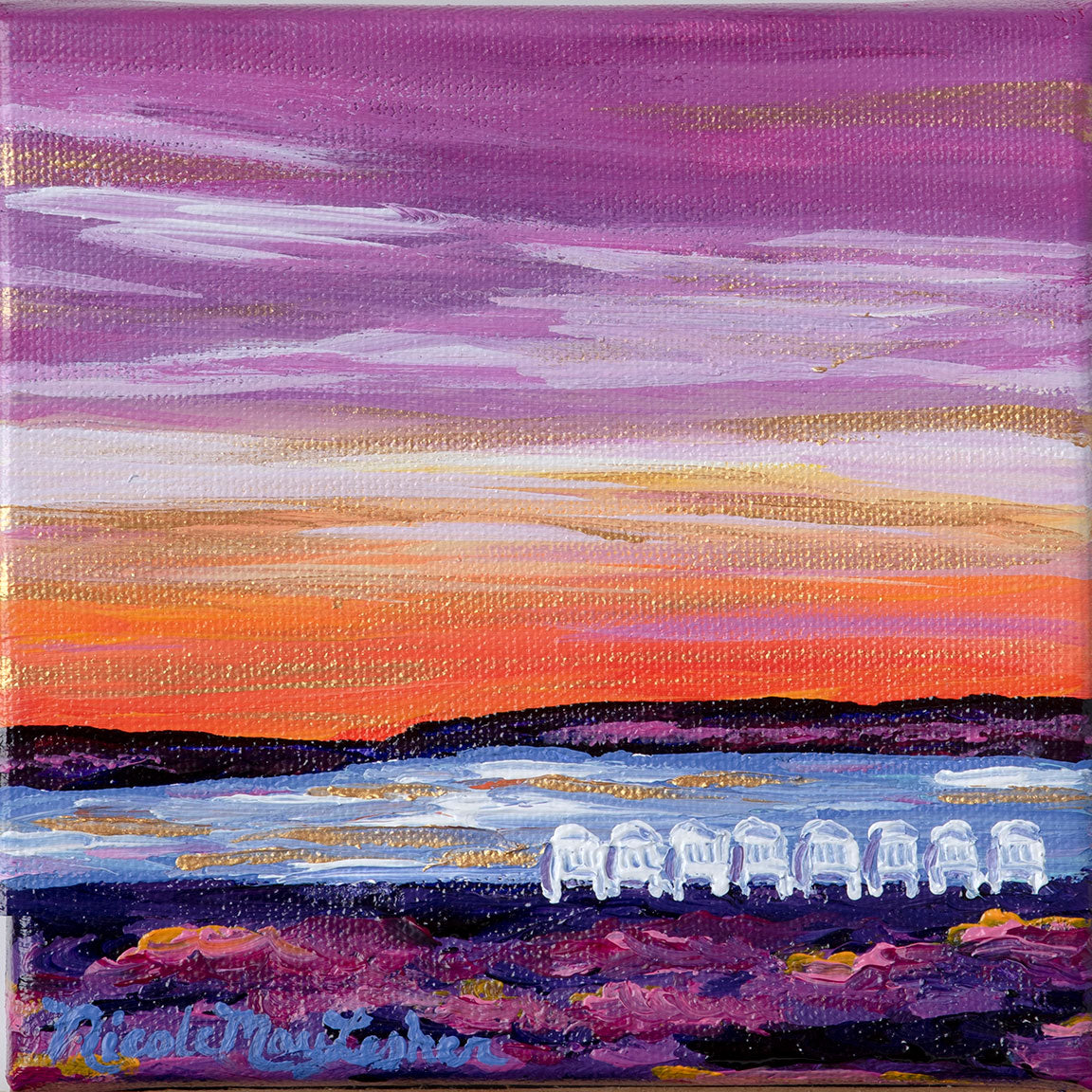 My Favorite Place | Coastal Maine Adirondack Sunset Painting | Nicole May Lesher