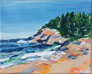 Sand Beach Stroll | Fine Art Acrylic Painting | Nicole May Lesher