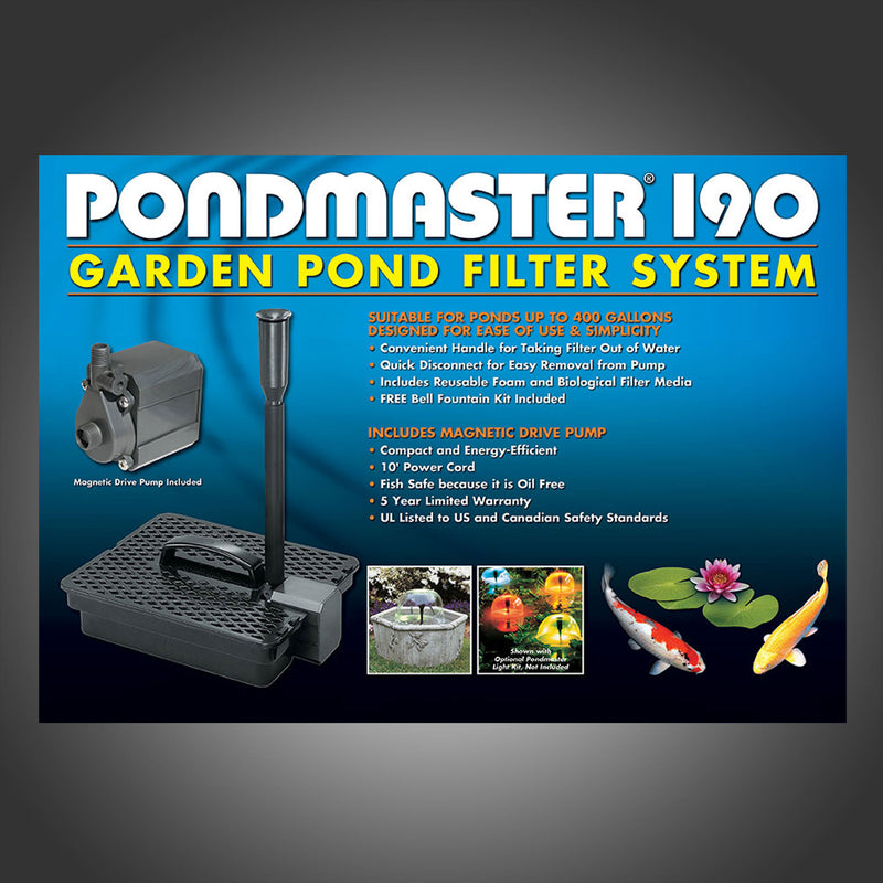 PONDMASTER GARDEN POND FILTER & PUMP KITS