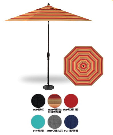9ft Auto Tilt Octagon Umbrella (Sunbrella) - SOLD OUT