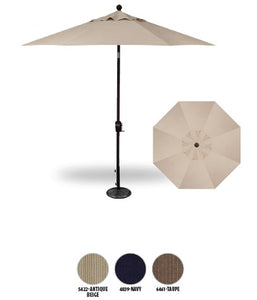 9ft Push Button Tilt Hexagon Umbrella (Polyester)
