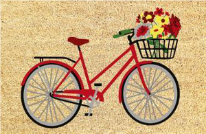 Flower Bouguet Red Bike Mat
