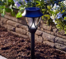 "Load image into Gallery viewer, Caldwell Black Plastic Path Solar Light 11.6"" SOLD OUT"
