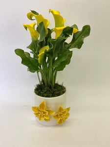 Calla Lily in 3D Yellow Flower Pot SOLD OUT