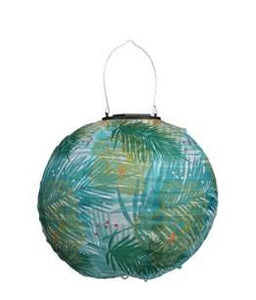 "Chinese Solar Lantern Leaves Green - 9.8"" x 9.8"" ON SALE"