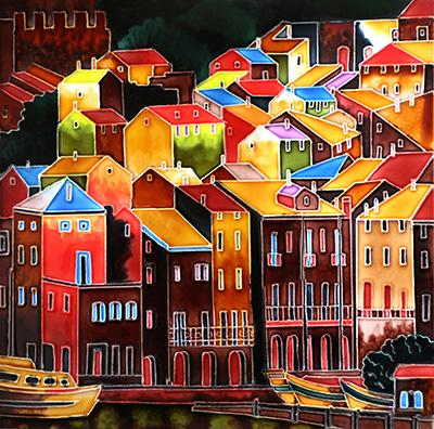 Colourful Buildings 12x12