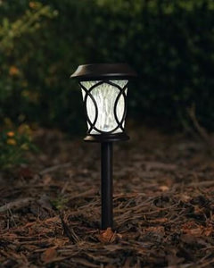 "Curved Design Black Plastic Path Solar Light 15.7"" ON SALE"