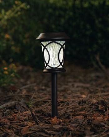 Curved Design Black Plastic Path Solar Light 15.7