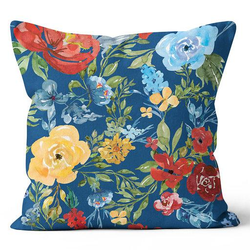 Ecotopia Floral Blue Indoor Pillow 17