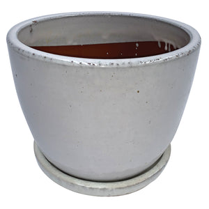 "Egg Pot with Saucer 9.75"" Diameter"
