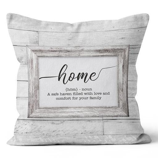 Home (Noun) Indoor Pillow