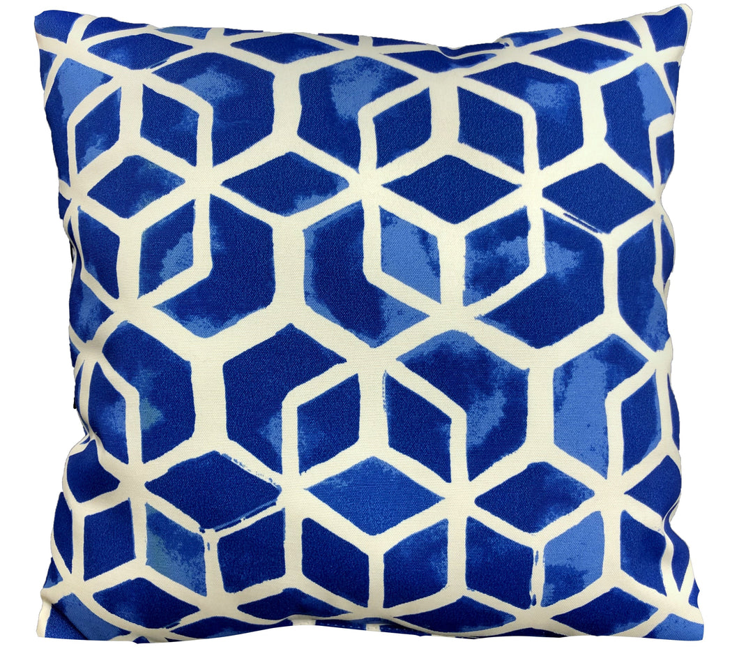 Celtic Blue Outdoor Pillow 16 x 16