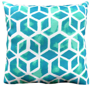 Celtic Turquoise Outdoor Pillow 16 x 16