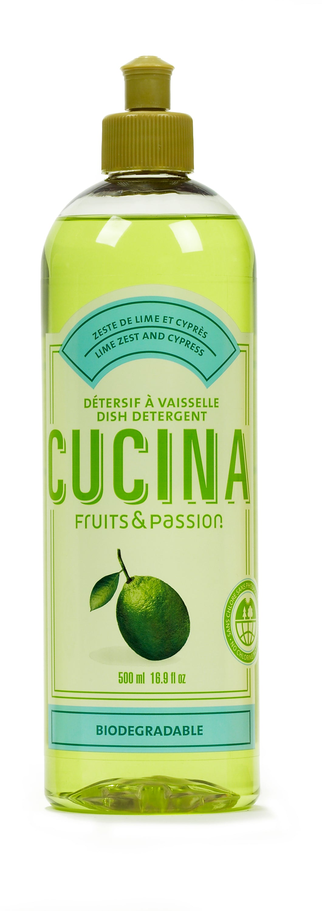 Fruits & Passions: Lime Zest &  Cypress Dish Detergent (500mL)