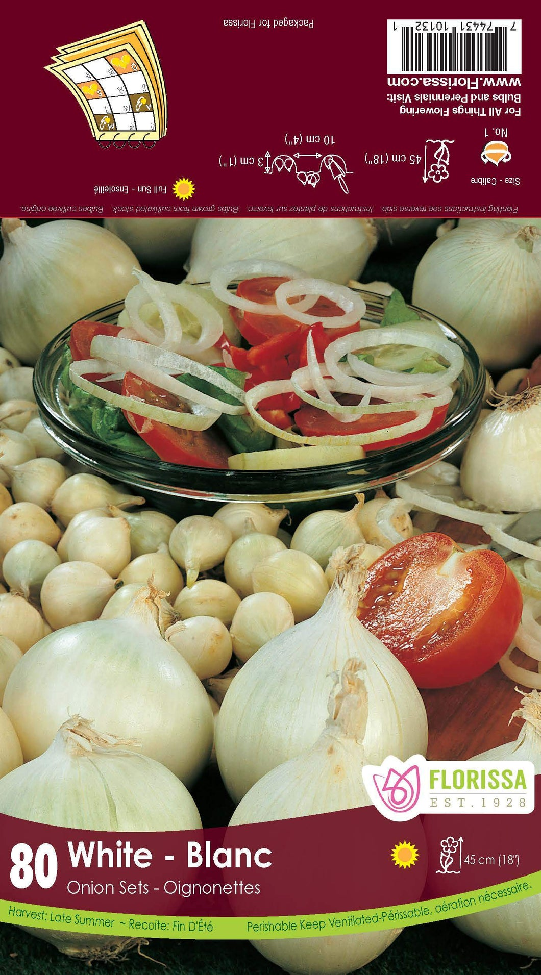 Onions - White sets 80blb/pkg SOLD OUT FOR THE SEASON