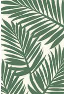 Palm Leaf Silhouette Polyweave Outdoor Rug 5' x 7'