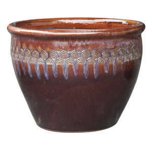 "Peacock Majestic Planter 6.25"" Diameter"