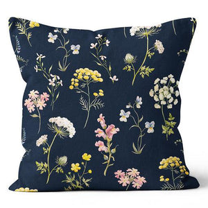 "Precious Hints Wild Flowers Pink Indoor Pillow 20"" x 20"""