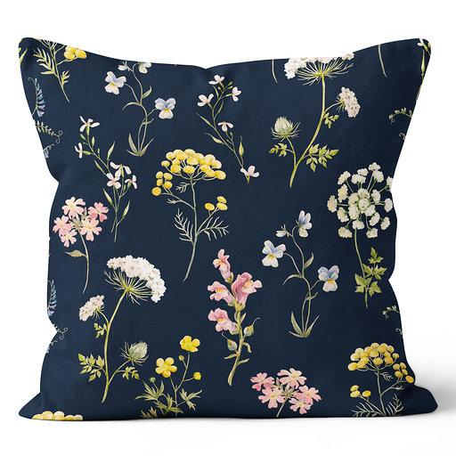 Precious Hints Wild Flowers Pink Indoor Pillow 20