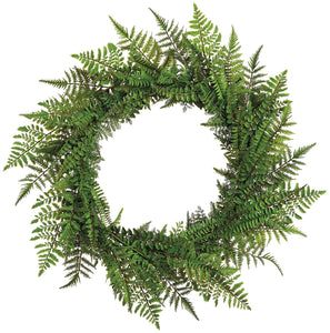 Mixed Fern Wreath 30""