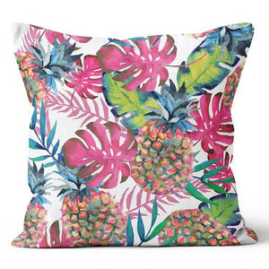 "Urban Oasis Pineapple Leaves Passion Indoor Pillow 17"" x 17"""