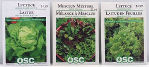 Assorted OSC Packaged Seeds
