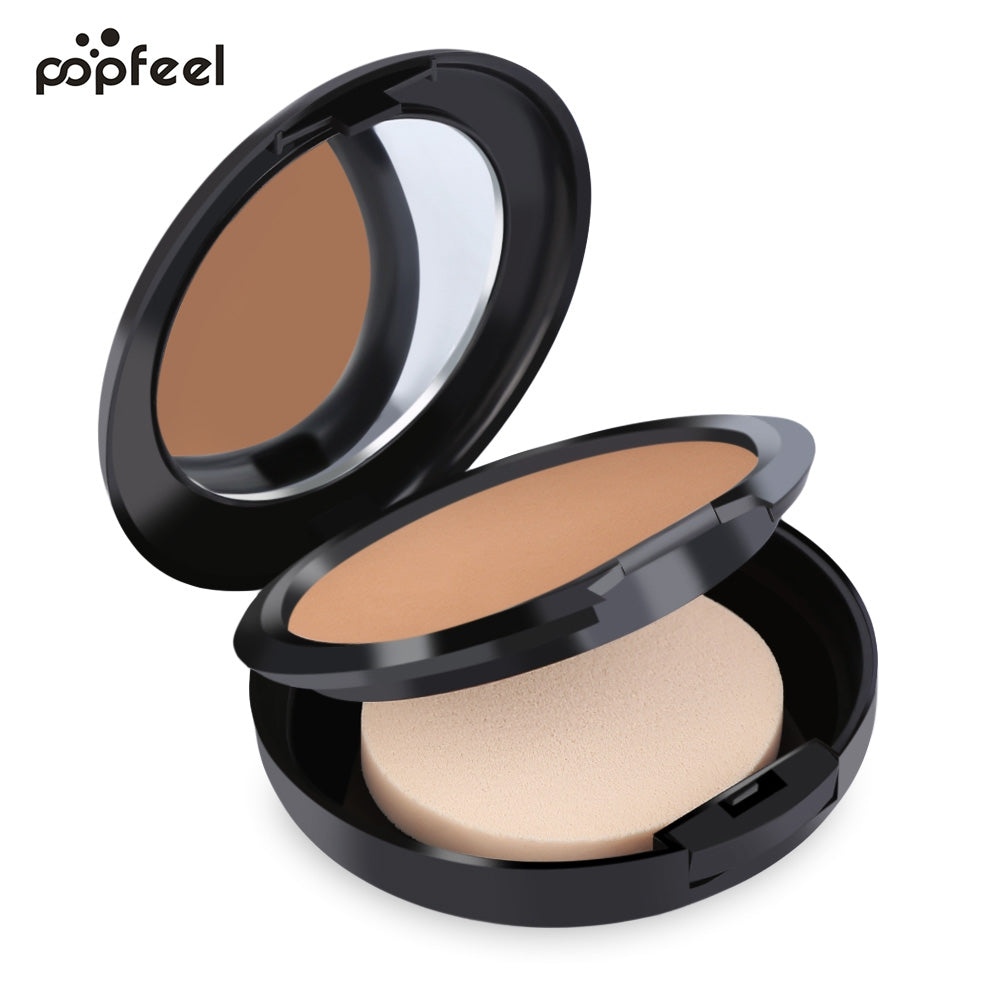 Popfeel Natural 6 Color Waterproof Makeup Powder Black Eye Foundation Concealer