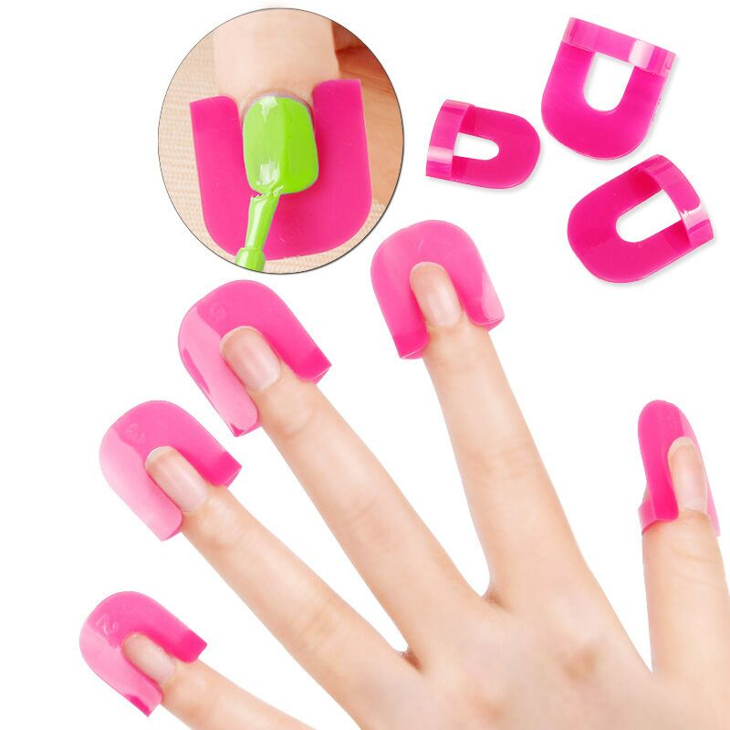 Hot Sale Nail Protector Cover Nail Manicure Tools for Finger Cover Nail Polish Shield Protector 10 Sizes Nail Polish Protector