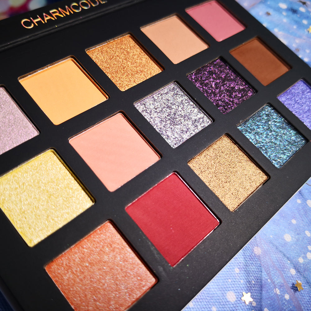 UCANBE CHARMCODE 15 Color Eyeshadow Makeup Palette Pressed Glitter Shimmering Matte Eye Shadow Powder Metallic Smoky Nude Makeup