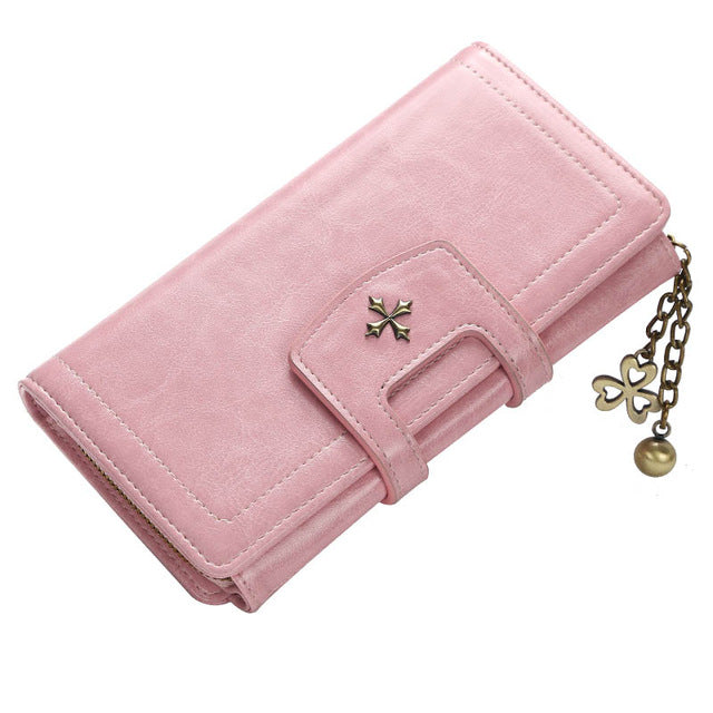 Baellery Women Long Clutch Wallet Large Capacity Wallets Female Purse Lady Purses Phone Pocket Card Holder Carteras 6 Color