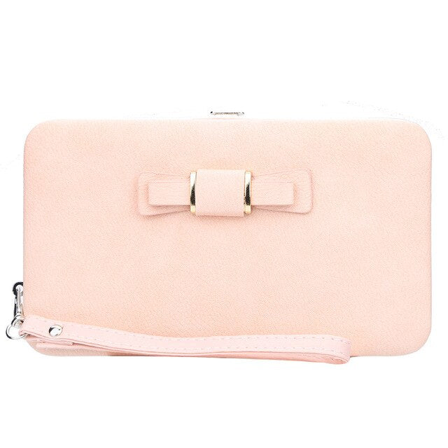 Baellery  Women's Wallet Leather Clutch Bag Hasp Wallet Zipper Long Purses Card Holder Cosmetic Handbags