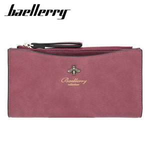 Baellery 2020 New Wallet Female Leather Wallet Matte Wallet Brand Classic Multi-card  Holder Female Purse Standard Wallets