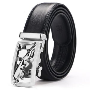 Hot selling Men belt fashion pu Alloy Automatic buckle belt business affairs casual decoration belt men's belts luxury brand