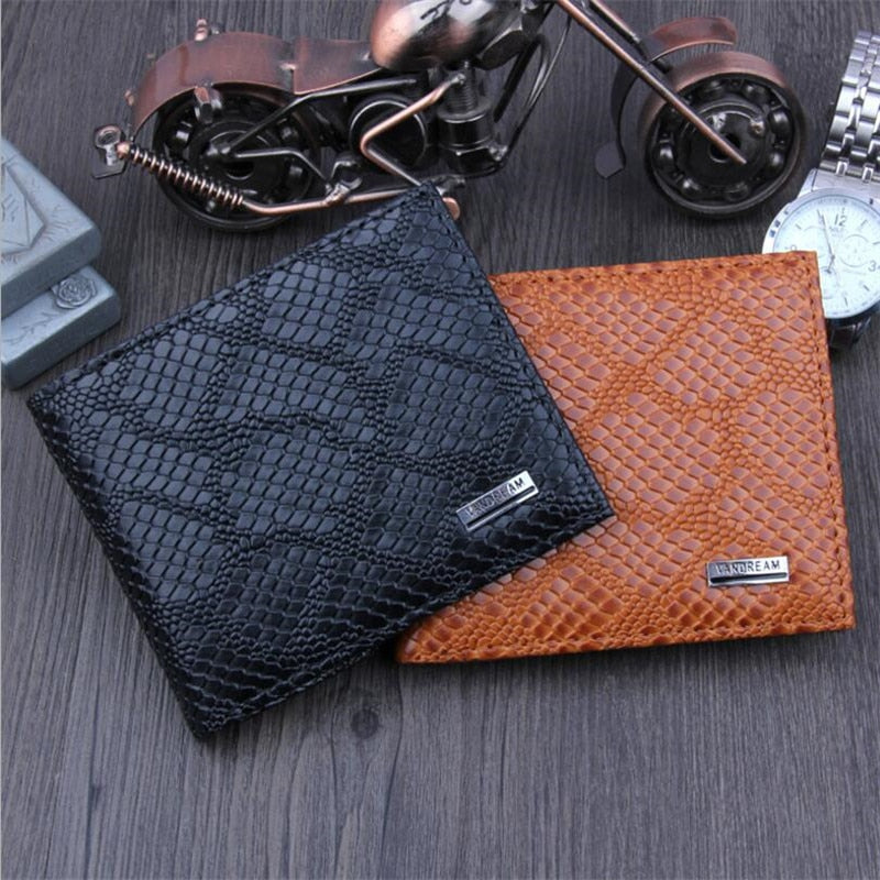 Vintage small wallet men multifunction purse men wallets coin pocket zipper men pu leather wallet male famous thin money bag