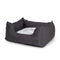 Water Resistant Charcoal High Side Square Bed