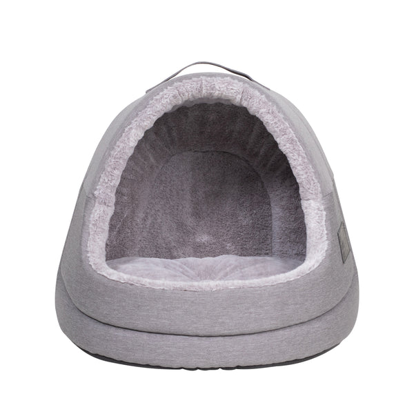 Grey Oxford Hooded Cat House