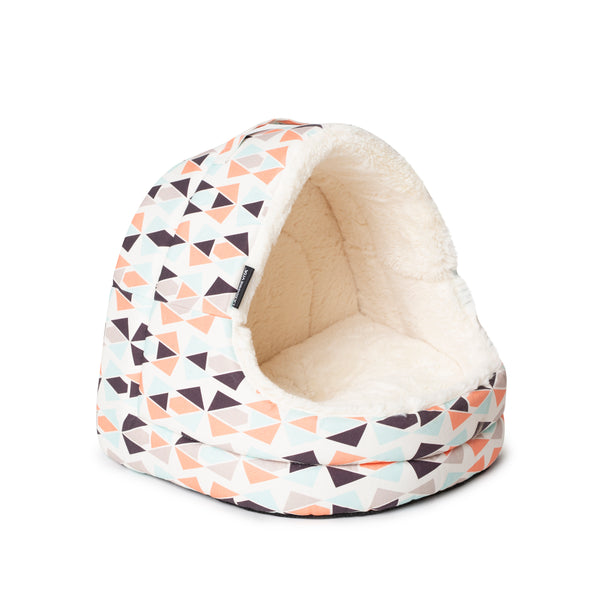 Geo Hooded Cat House