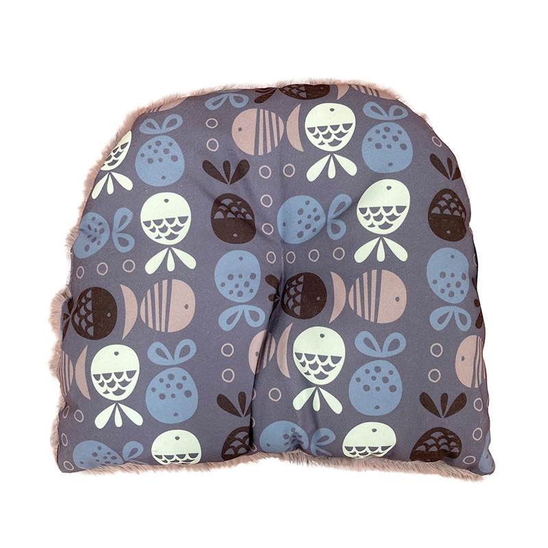 Go Fish Indigo Hooded Cat House Cushion