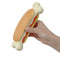 Hot Dog Bone Toy with Squeaker
