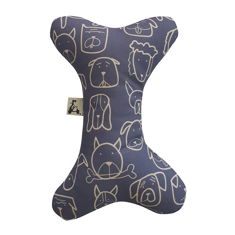 Dog Central Indigo Toy Bone with Squeaker