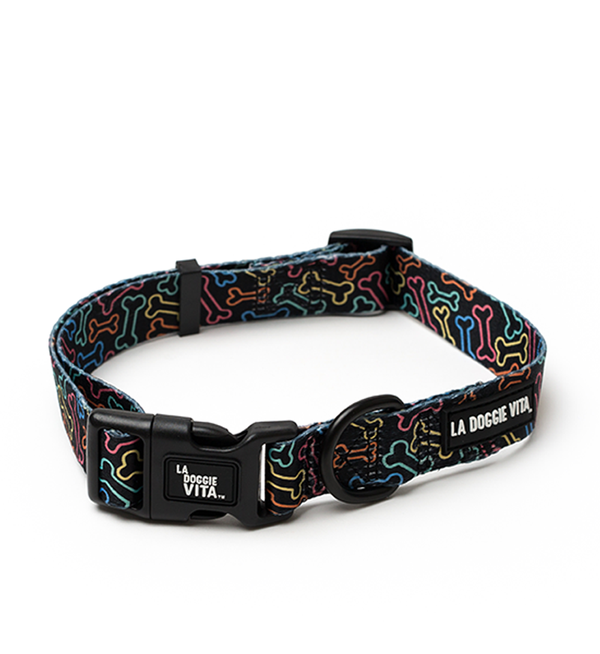 Neon Bone Black Collar